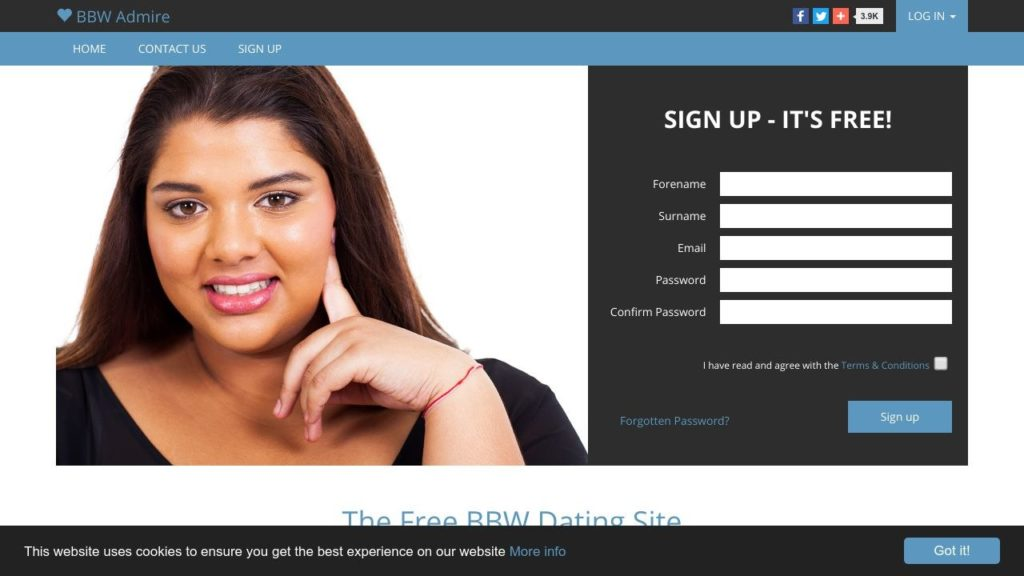 Bbwadmire Dating Service